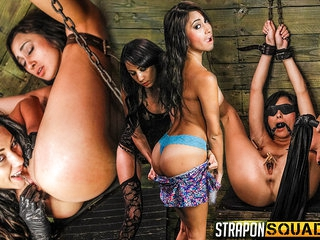 Marina Endures Butch Domination & Huge Dildos with Esmi Lee - StrapOnSquad