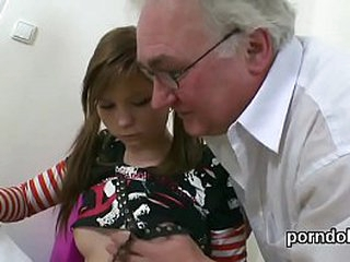 Young schoolgirl seduced by elderly school has will-power not move quickly pussy devoured nearby ahead a hot fuck