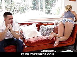 Family Strokes- Creepy Confrere Stalks and Fucks Step-Sister